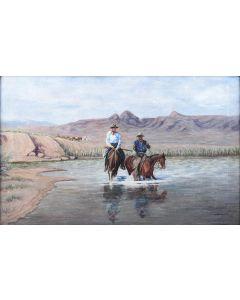F.A. Morris (1876-1947) - River Crossing