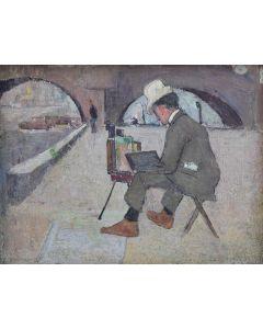 Leon Shulman Gaspard (1882-1964) - The Artist - On the Seine in 1899