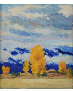 SOLD Walter Ufer (1876-1936) - When Fog Hangs Low, Taos, New Mexico