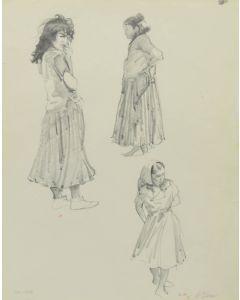 Ralph Brownell McGrew (1916-1994) - Number SK.185, Three Navajo Women (PDC90536-1220-006)