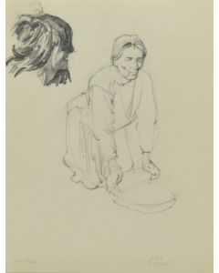 Ralph Brownell McGrew (1916-1994) - Number SK. 339, Two Native Portraits (PDC90536-1220-016)