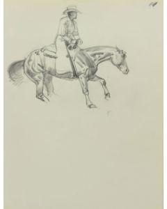 Ralph Brownell McGrew (1916-1994) - Cowboy on Horseback (PDC90536-1220-017)