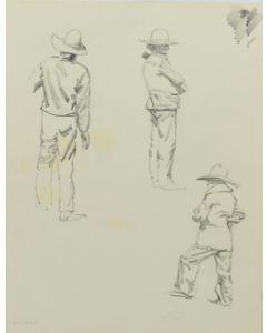 Ralph Brownell McGrew (1916-1994) - Number SK. 254, Three Navajo Men Standing (PDC90536-1220-018)