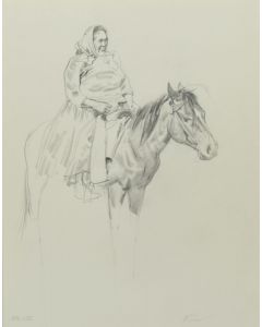 Ralph Brownell McGrew (1916-1994) - Number SK. 172, Native Woman on Horseback (PDC90536-1220-042)