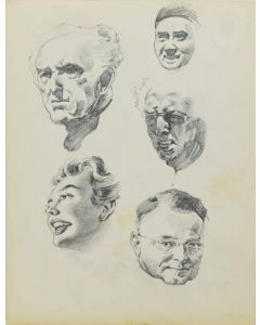 Ralph Brownell McGrew (1916-1994) - Group of Portraits including Joan Crawford and Babe Ruth (PDC90536-1220-064)