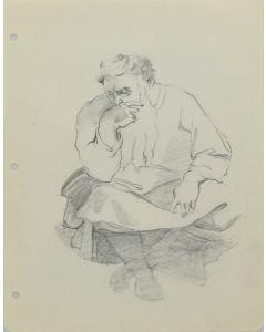 Ralph Brownell McGrew (1916-1994) - Man Sitting (PDC90536-1220-065)