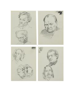 Ralph Brownell McGrew (1916-1994) – Group of Portraits; Including Antonio Vivaldi, Charles Dickens, Martin Van Buren, and Winston Churchill (PDC90536-1220-066)