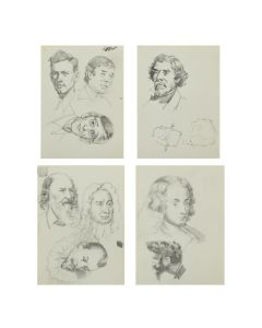 Ralph Brownell McGrew (1916-1994) – Group of Portraits; Including Charles Lindbergh, William Bligh, George Frideric Handel, and Robert Dudley, Earl of Leicester (PDC90536-1220-070)