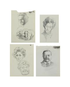 Ralph Brownell McGrew (1916-1994) – Group of Portraits; Including Theodore Roosevelt, and Sir Patrick Moore (PDC90536-1220-074)