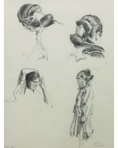 Ralph Brownell McGrew (1916-1994) - Number SK.191, Rebecca and Navajo Hair Styles (PDC90536-1220-092)