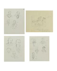 Ralph Brownell McGrew (1916-1994) - Group of 4 Drawings with Field Notes (PDC90536-1220-103)