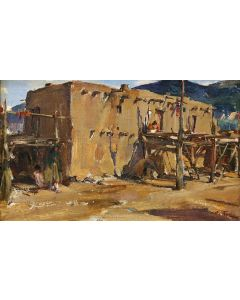 SOLD Nicolai Fechin (1881-1955) - Taos Pueblo House