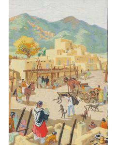 SOLD Manville Chapman (1903-1978) - Pueblo Scene