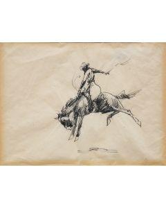SOLD Edward Borein (1872-1945) - Bronco Rider
