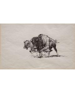 SOLD Edward Borein (1872-1945) - Pair of Buffalo