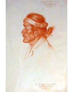 SOLD E. A. Burbank (1858-1949) - Has-ti-nez, Navajo, 1907