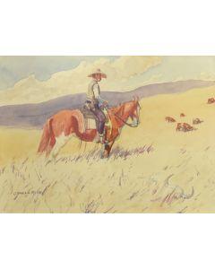 Leonard Reedy (1899-1956) - Looking Over the Range
