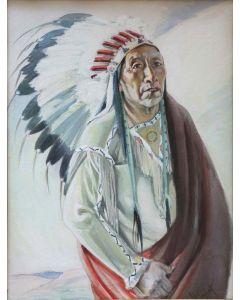 SOLD Joseph Imhof (1871-1955) - Plains Indian (Sioux)
