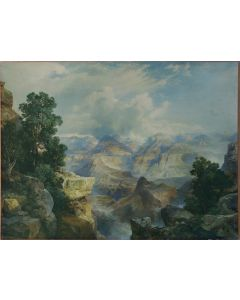 SOLD Thomas Moran (1837-1926) - Print of a 1913 Santa Fe Railroad Chromolithograph