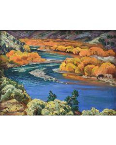 Ila Mae McAfee (1897-1996) - Autumn Splendor Along the Rio Grande