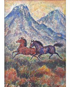 Ila Mae McAfee (1897-1996) - Taos Horses
