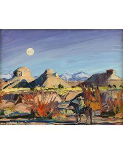 Louisa McElwain (1953-2013) - Badlands Moonrise