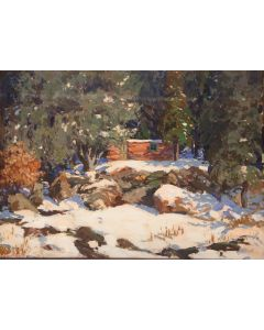SOLD Fremont Ellis (1897-1985) - Winter Landscape