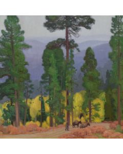E. Martin Hennings (1886-1956) - Mountain Aspens Taos
