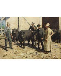 Wilhelm Heinrich Detlev Koerner (1878-1938) - Bulls for Sale