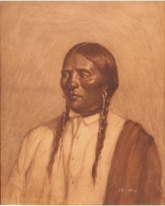 SOLD Joseph Henry Sharp (1859-1953) - Northern Plains Indian Chief