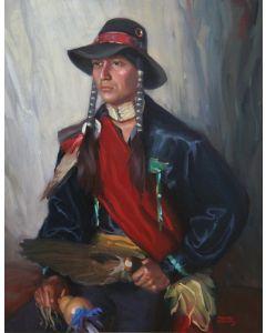 SOLD Roman Froman (1908-1980) - Comanche Portrait