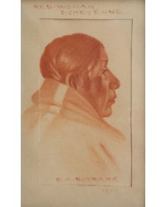 SOLD E. A. Burbank (1858-1949) - Red Woman, S. Cheyenne