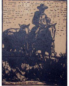 SOLD Edgar Papyne (1883-1947) - Cowboy on Horse