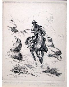 SOLD H. W. Hansen (1854-1924) - Patrolling the Rio Grande