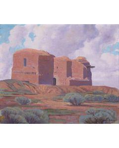 SOLD Carl Redin (1892-1944) - Pecos Adobe Mission Church