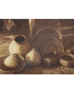 Edward S. Curtis (1868-1952) - Chemehuevi Basketry and Pottery