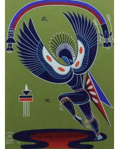 Adee (Adolph) Brittany Dodge (1911-1992) (Navajo) - Rainbow God (PDC91051-0720-003)