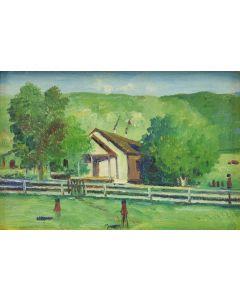 E.A. Burbank (1858-1949) - Maiden Indian School House