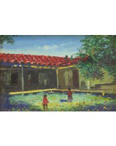E.A. Burbank (1858-1949) - Ramona's Home Near Oceanside, California