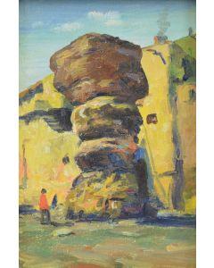E.A. Burbank (1858-1949) - Snake Rock at Walpi, Arizona