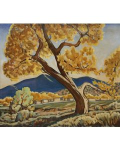 SOLD Arthur Haddock (1895-1980) - Cottonwood