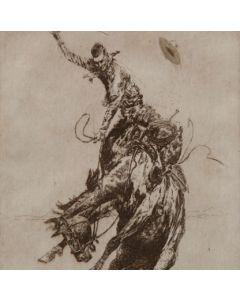 SOLD Edward Borein (1872-1945) - Bucking Horse