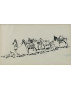 Edward Borein (1872-1945) - Pack Train