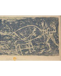 Gustave Baumann (1881-1971) - Deer Hunt