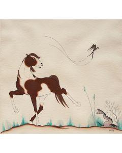 SOLD Percy (Kai Sa) Sandy (1918-1974) - Horse and Rattlesnake