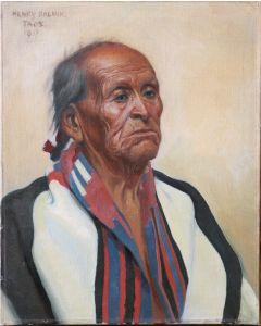 SOLD Henry Balink (1882-1963) - Man in Chief Blanket