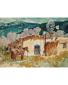 SOLD Ross Stefan (1934-1999) - Meanwhile Back at the Ranch