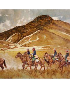 Ross Stefan (1934-1999) - The Sonoita Valley 1869 - Camp Crittenden Southern Arizona