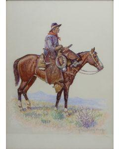 Robert Farrington Elwell (1874-1962) - Arizona Wild Cattle Hunter (PDC91354B-0221-002)