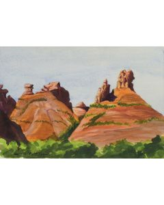 Gerald Cassidy (1879-1934) - Red Rocks, New Mexico